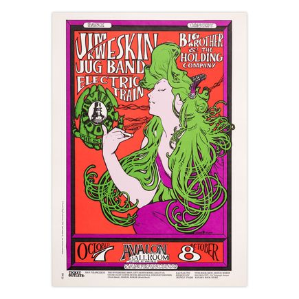Mouse! Studios Art Print - Jim Kweskin Jug Band - Avalon Ballroom - 1966 - Third Printing