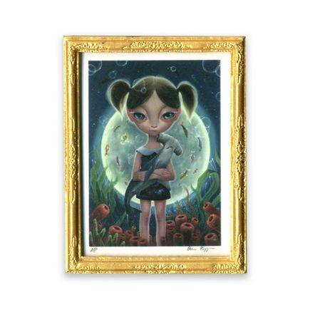 Ana Bagayan Art Print - Framed Limited Edition Mini-Print - Undersea Moon