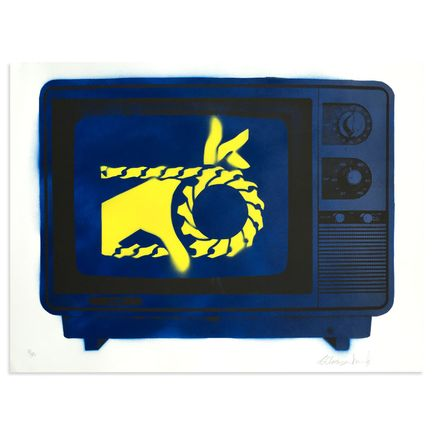 Armando Chainsawhands Art - Chainsawhands TV - Blue Variant