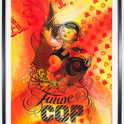 ASVP Art Print - Future Cop - Red