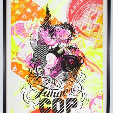 ASVP Art Print - Future Cop - Pink