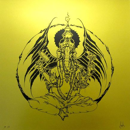 Augor Original Art - Graffiti God - Gold Edition