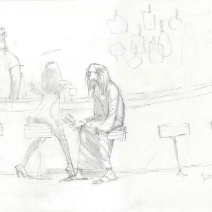 Glenn Barr Original Art - The Day Dream - Sketch 1