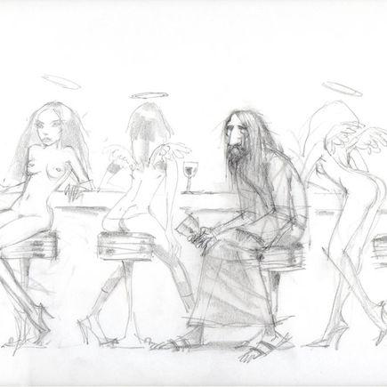Glenn Barr Original Art - The Day Dream - Sketch 2