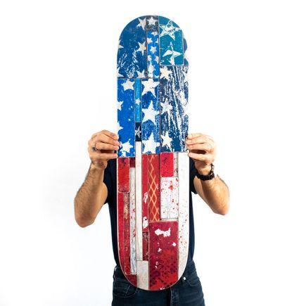 Bask Art Print - Stars & Stripes - Skate Deck Variant
