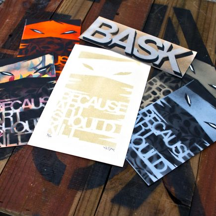 Bask Art - Because Art Should Kill Print + Sticker Pack