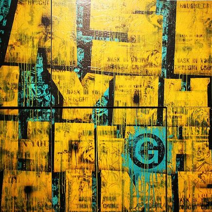 Bask Original Art - Thought Crimes Blocks