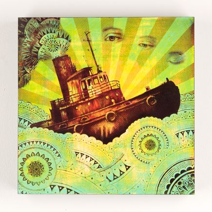 Beau Stanton Original Art - Derelict Vessel - Lime/Rust