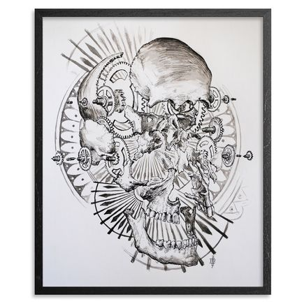 Beau Stanton Original Art - Exploded Skull and Components - Original Artwork