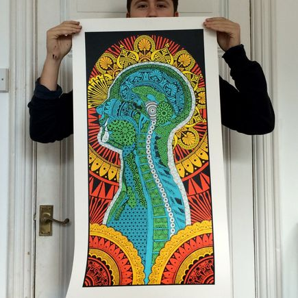 Beau Stanton Art - The Ornamented Man - Limited Edition Prints Framed