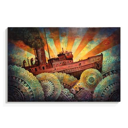 Beau Stanton Original Art - A Precarious Voyage - Original Painting