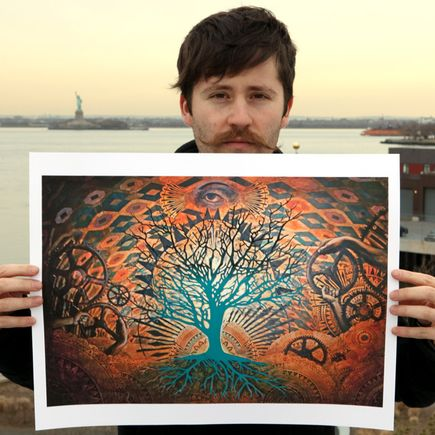 Beau Stanton Art Print - Alchemic Bloom Blue Variant