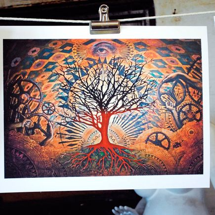 Beau Stanton Art Print - Alchemic Bloom Orange Variant
