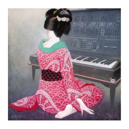 Ron Zakrin Art Print - Beauty With Synthesizer