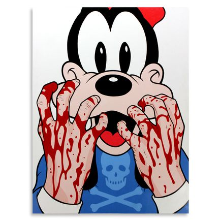 Ben Frost Original Art - Bleeding Hands Goofy