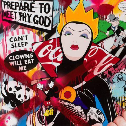 Ben Frost Art Print - Can't Sleep Clowns Will Eat Me - 24 x 24 Edition