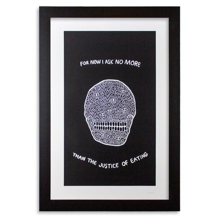 Ben Saginaw Art Print - Neruda - Black Edition