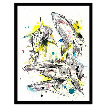 Ben Tour Original Art - #sharks
