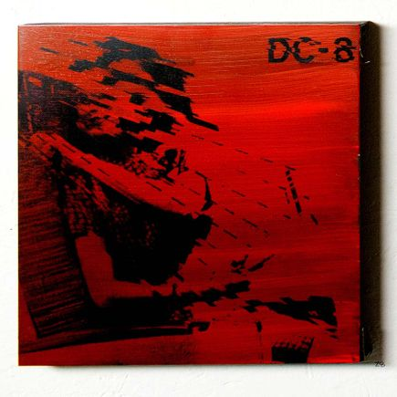 Bethany Shorb Art - DC8 V - Black On Red