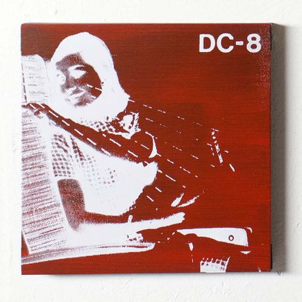Bethany Shorb Art - DC8 VIII - White On Red