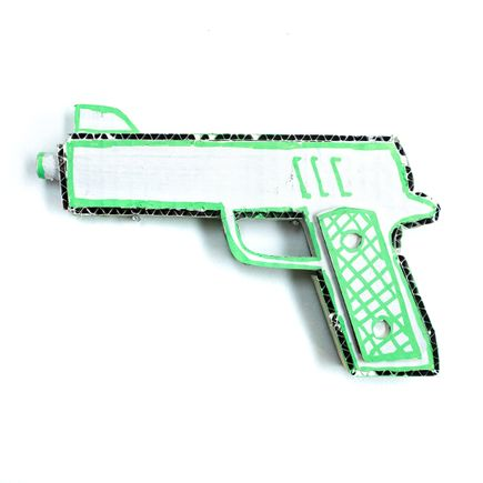 Bill Barminski Original Art - 45 Pistol - Green