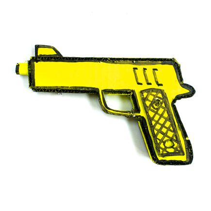 Bill Barminski Original Art - 45 Pistol - Yellow
