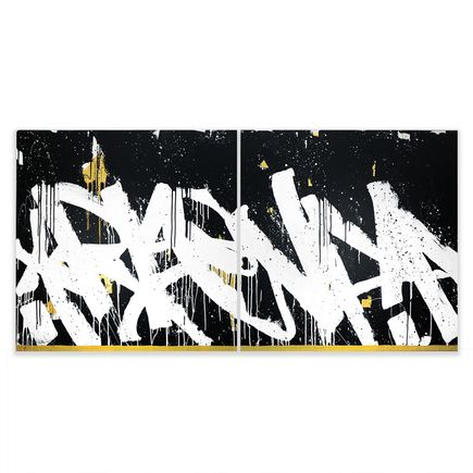 Bisco Smith Original Art - Rise Up (Diptych) - Original Artwork