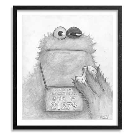 Bob Dob Original Art - Mug Shot Cookie Monster
