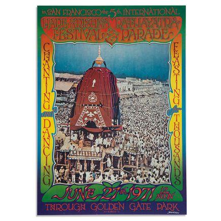 Bob Schnepf Art - Hare Krishna Rathayatra Festival & Parade - Signed