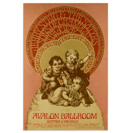 Bob Schnepf Art - Sons of Champlin at Avalon Ballroom - March 1968