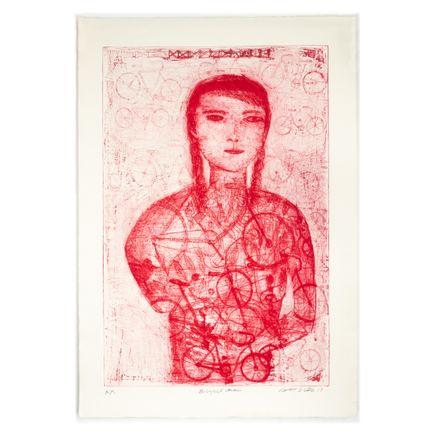 Robert Sestok Original Art - Bicycle Girl (Red) - Artist Proof I - 2017