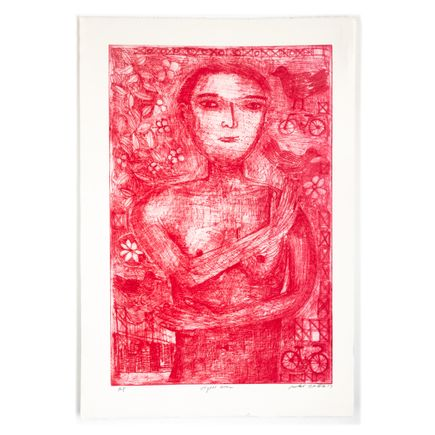 Robert Sestok Art Print - Vegan Girl (Red) - Artist Proof - 2017