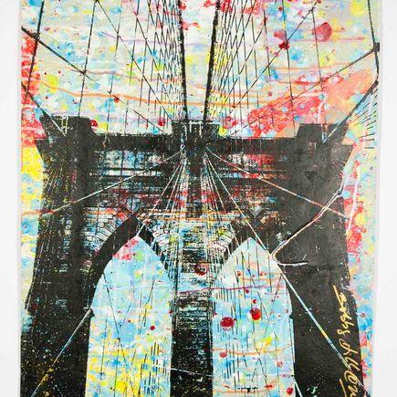 Bobby Hill Original Art - Brooklyn Bridge - 38
