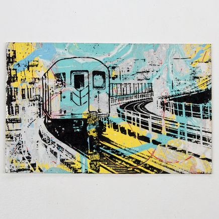 Bobby Hill Art - Elevated Train NYC