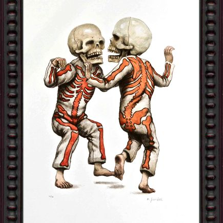 Matt Gordon Art - Bone Trot (Red & Grey Edition)