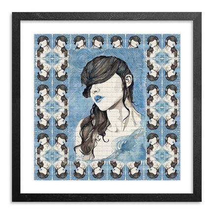 Brandon Boyd Art Print - Paige In Blue - Blotter Variant