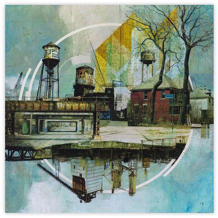 Liz Brizzi Original Art - Motor City Odds And Ends