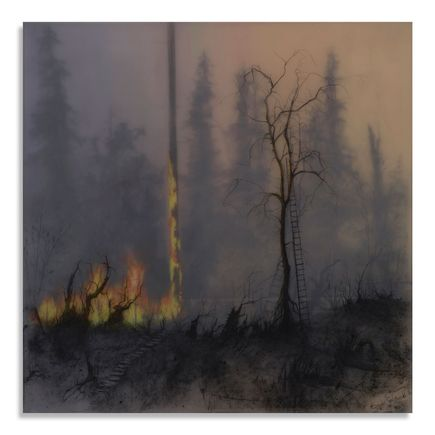 Brook Salzwedel Original Art - No So Wild Fire
