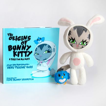 Persue Book - The Origins of Bunny Kitty - Signed Book & Plush Combo