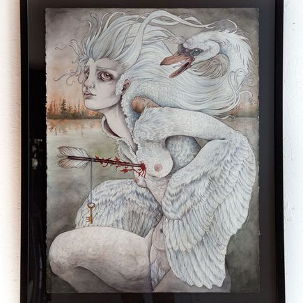 Caitlin Hackett Original Art - The Swan Maiden