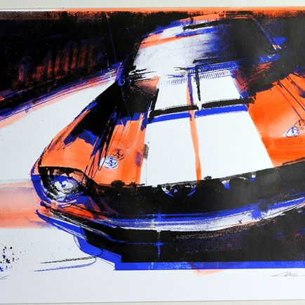 Camilo Pardo Art Print - GT350 Blue + Orange Edition