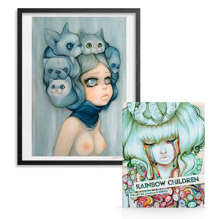 Camilla d'Errico Art Print - Mademoiselle Gatto & Rainbow Children - Print + Signed Artbook Combo