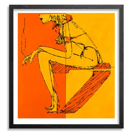 Camilo Pardo Art - Sitting Seven - Framed