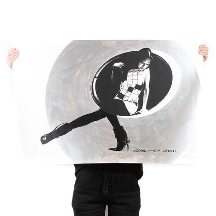 Camilo Pardo Art Print - Circle Girl - Silver Variant