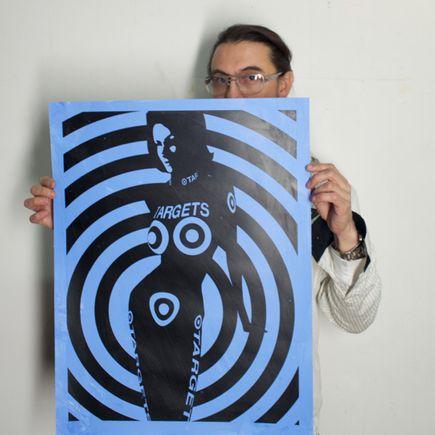 Camilo Pardo Art Print - Her Targets