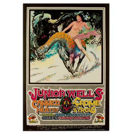 Carl Lundgren Art - Junior Wells, Canned Heat at Avalon Ballroom - May 1968