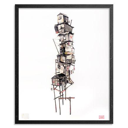 Caroline Caldwell Art Print - Shanty Tower - Hand-Embellished Prints