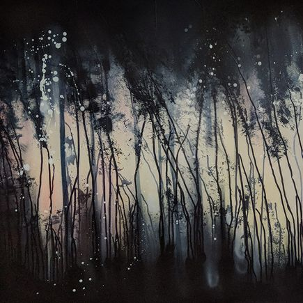Case MacKeen Original Art - Drip Forest Aubergine - Original Artwork