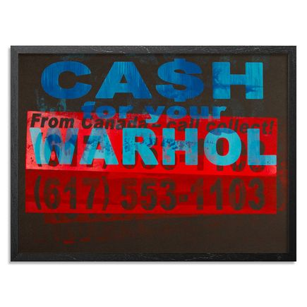 Cash For Your Warhol Art Print - CFYW Call Collect - Printer Select 1/5
