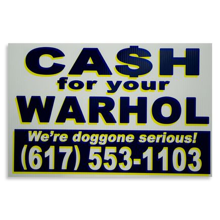 Cash For Your Warhol Hand-painted Multiple - We're Doggone Serious 07 - 12x18 Inch